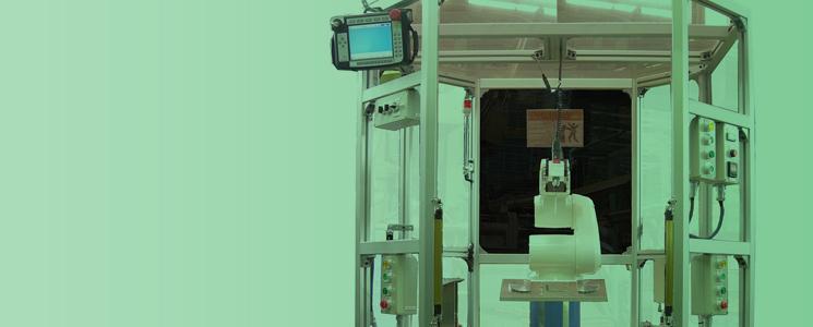 中子用バリ取りロボットのイメージ画像