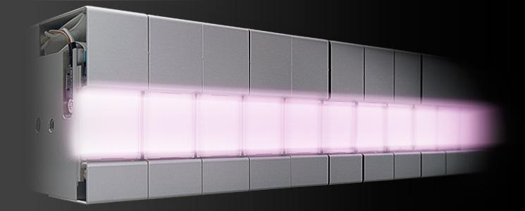 ユニットを組み合わせて形状のカスタマイズが可能なUV-LED照射器「Uvira」のイメージ画像